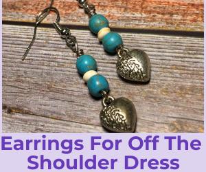 earrings for off shoulder dress