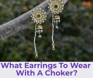 earrings with a choker